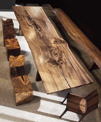 stół kawałka drewna