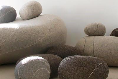 kamienie w projektach wnętrz